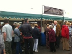 Customers queuing up to taste our fine wines