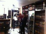 lighting the shots for Come Dine With Me at Whalley Wine Shop
