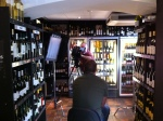 Setting up the filming of Come Dine With Me at Whalley Wine Shop