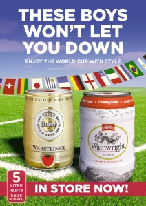 Warsteiner and Wainwright Kegs In Store Now!