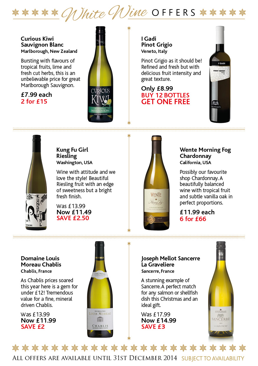 wine brochure template free - christmas promotion 2014 the whalley wine shop