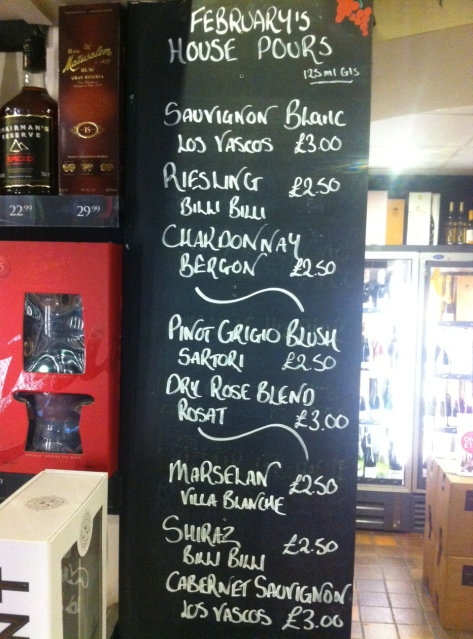 Just £2.50 to enjoy a glass of fine wine at The Whalley Wine Shop!