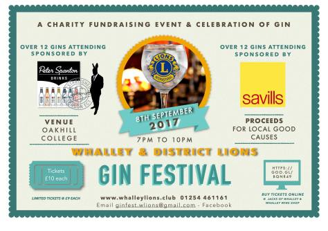 Whalley Lions Gin Festival